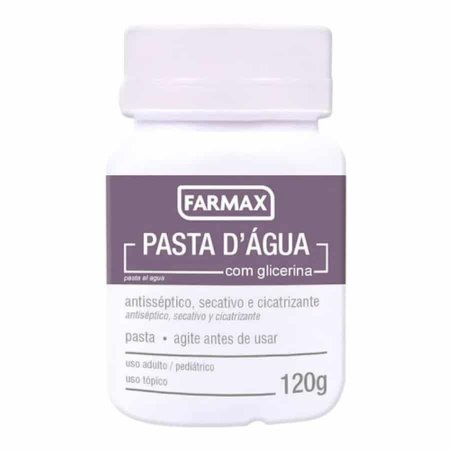 Pasta D'Água com Glicerina 120g Farmax