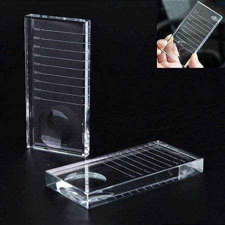 Pedra Cristal para depositar cílios retangular