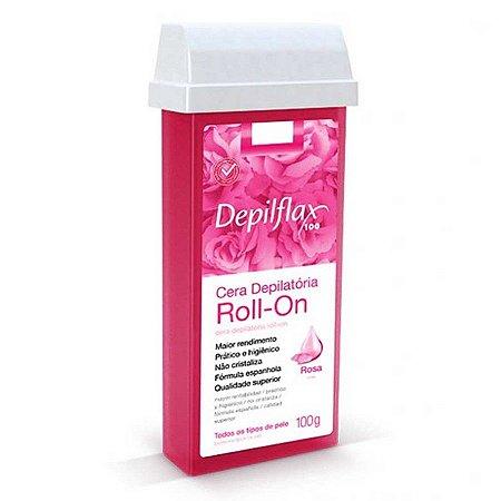 Cera Depilatória Depilflax Roll-On Rosa