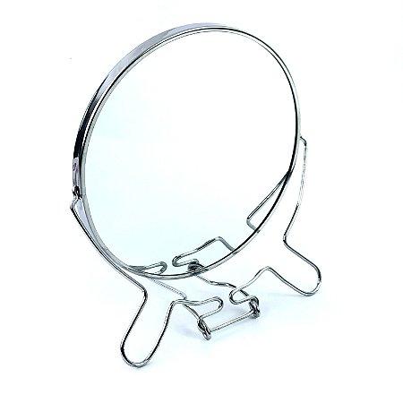 """Espelho De Mesa Redondo Dupla Face 7"""" Iamo"""
