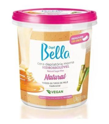 Cera Depilatória Hidrossolúvel Depil Bella Natural 1,3kg