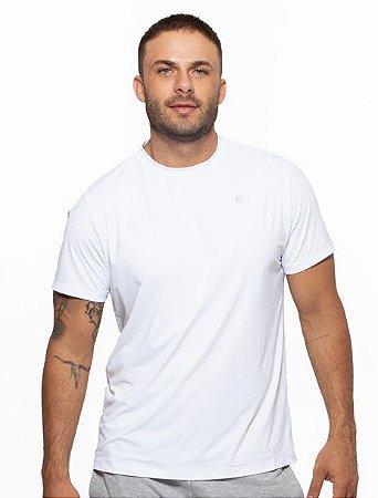 Camiseta Fitness Manga Curta Masculino ROMA Básica Branco