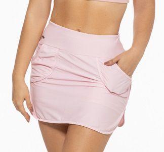 Saia Fitness  Feminino ROMA Shorts Interno Bolsos Rosa Claro