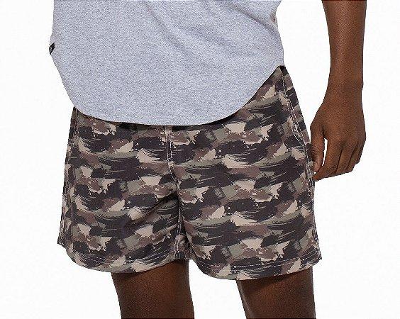 Shorts Curto Masculino ROMA Militar Estampado Verde Escuro