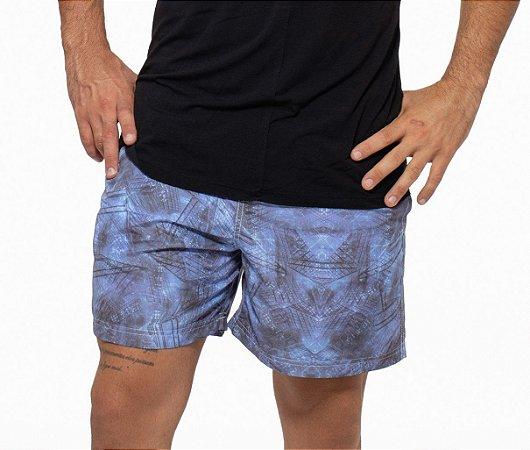 Shorts Curto Masculino ROMA Riscos Estampado Azul Escuro