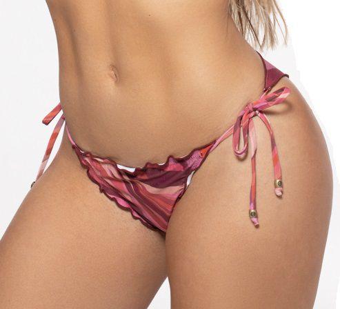Tanga Moda Praia Ripple Feminino ROMA  Estampado Rosa Médio