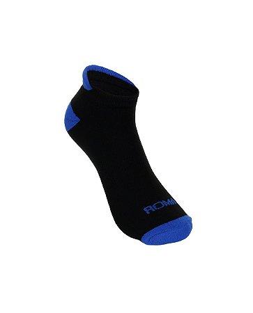 Meia Sapatilha Individual ROMA 38 a 43 Preto/Azul