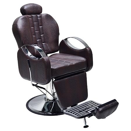Cadeira De Barbeiro Reclinável -Marrom    Tissot Retrô  Terra Santa