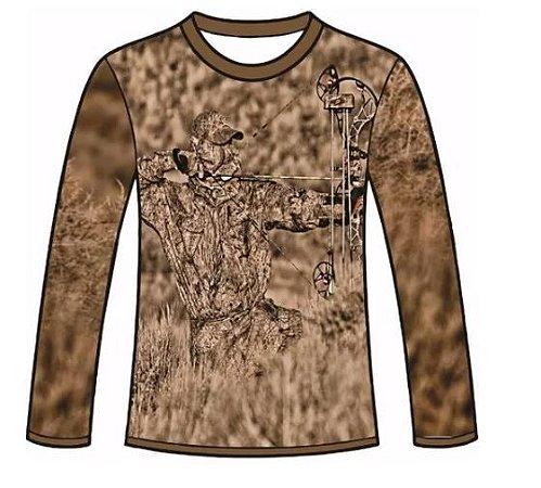 Camiseta Camuflada Manga Longa Caçadores Brs - 09