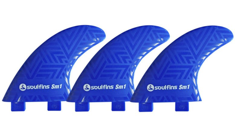 Quilhas Soul Fins SM1 - Padrão FCS Tamanho Médio Azul