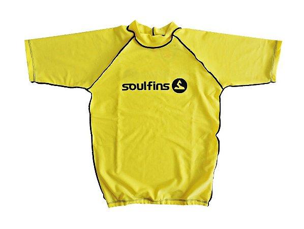 Camiseta de Lycra Soul Fins UV Protection 50+   Manga Curta Amarelo ... dbffceebc90bb