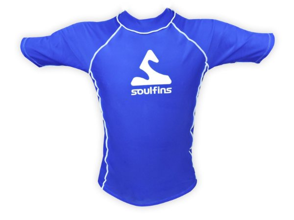 Camiseta de Lycra Soul Fins UV Protection 50+ / Manga Curta Azul