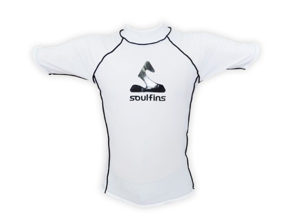 Camiseta de Lycra Soul Fins UV Protection 50+ / Manga Curta Branco