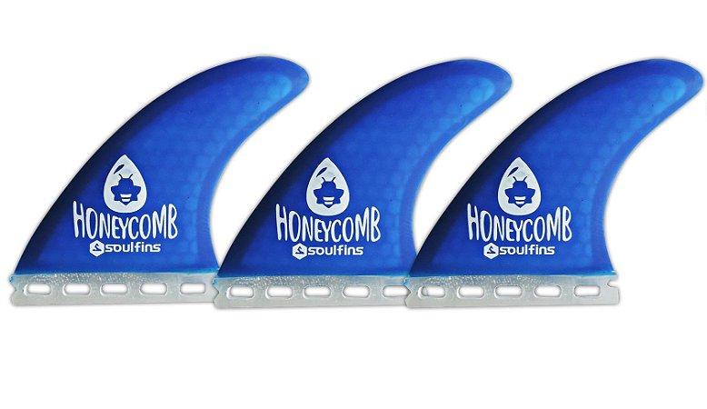 Triquilhas SX1 - Soul Fins Honeycomb Padrão Future Médio Azul