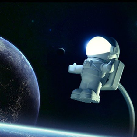 Astronauta Luminária USB