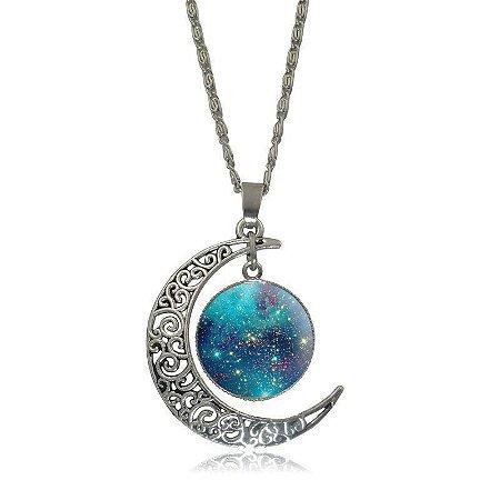 Colar Lua e Aglomerado - Green Sky