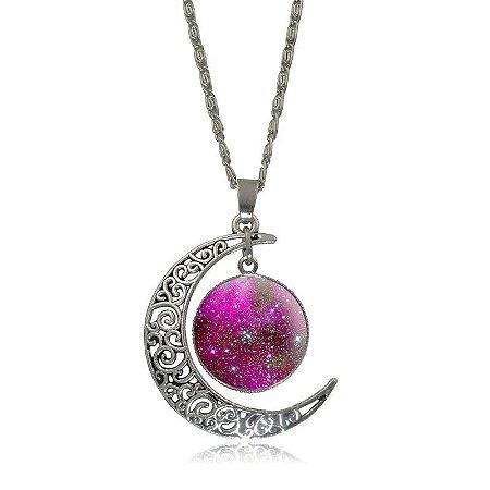 Colar Lua e Aglomerado - Purple Sky