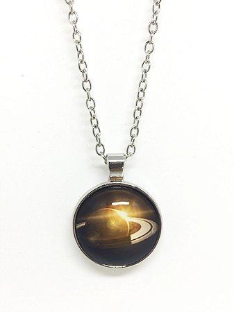 Colar Saturno - Prata