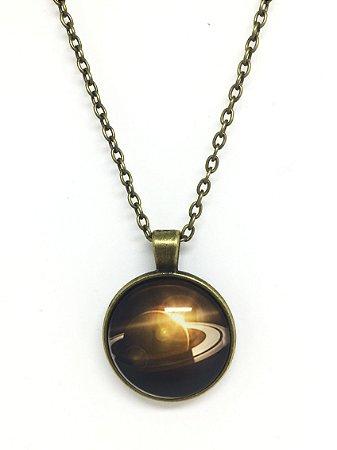 Colar Saturno - Bronze