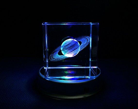 Saturno 3D de Cristal