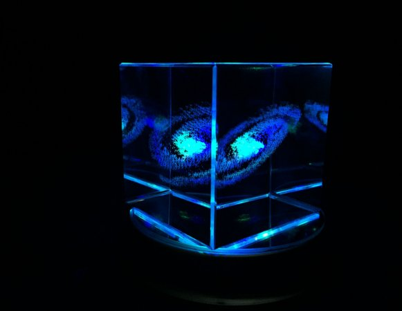 Galáxia 3D de Cristal