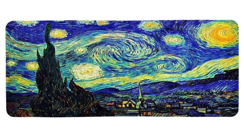 Mouse Pad Gamer - A Noite Estrelada de Van Gogh