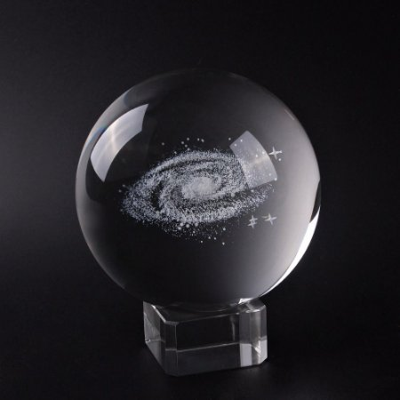 Galáxia 3D de Cristal (60 mm) com Base de Cristal