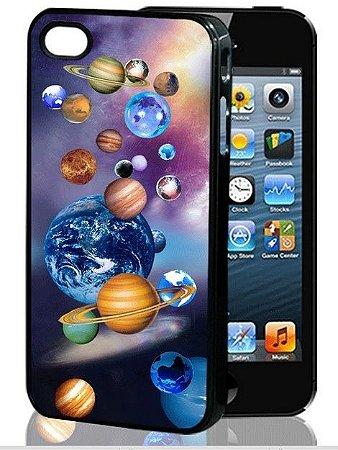 Capa 3D para Celular IPhone 4S: Tema Sistema Solar