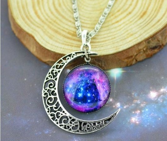 Colar Lua e Nebulosa Roseta