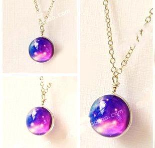 Colar Esférico Nebulosa Violeta