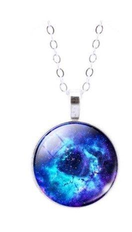 Colar Nebulosa Roseta Azul