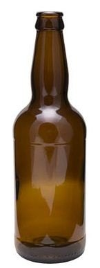 Garrafa Âmbar Cerveja Inglesa 500ml | 12 unidades | Sem Tampa