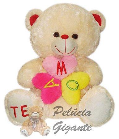 Urso Te amo em forma de flor