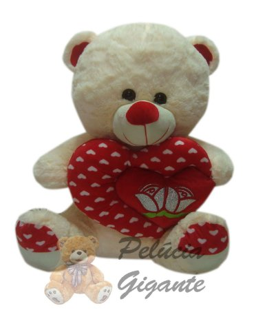Urso com coração flor