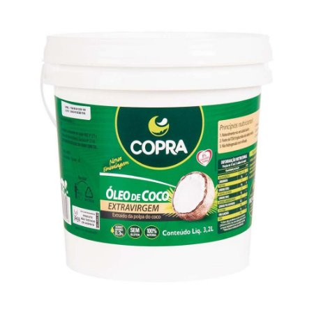 Balde Óleo de Coco Extra Virgem 3,2 L - Copra Coco