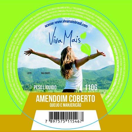AMENDOIM COBERTO QUEIJO E MANJERICÃO | 110 GRAMAS