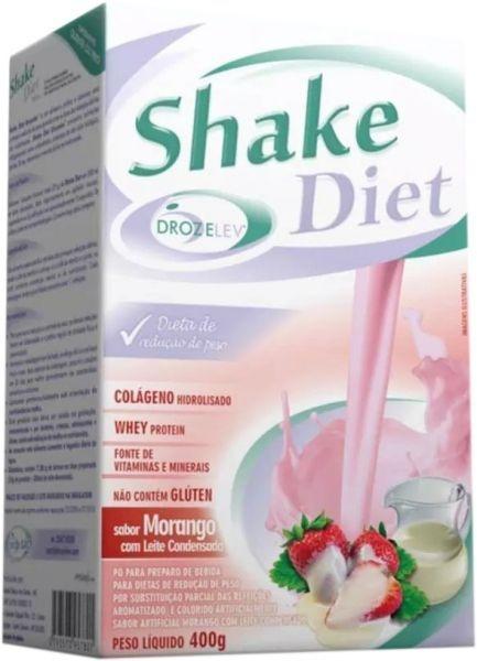 Shake Diet Morango Com Whey e Colágeno - 400 Gramas