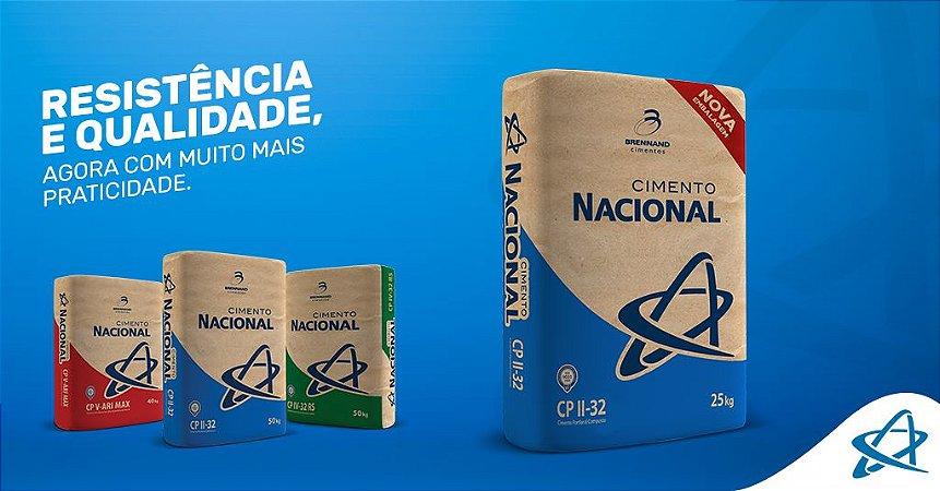 Cimento Nacional em Até 12 x no Cartão (entrega partir de 30 sacos) Goiana