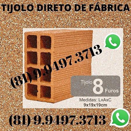 Tijolo 8 Furos direto de Fábrica tijolos de qualidade Aliança