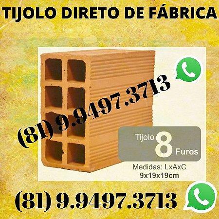 Tijolo 8 Furos direto de Fábrica tijolos de qualidade Agrestina