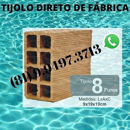 Tijolo 8 Furos direto de Fábrica tijolos de qualidade Altinho