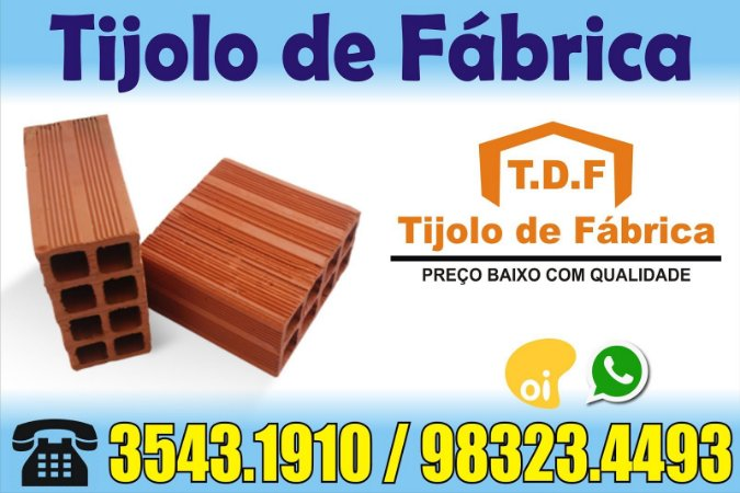 Tijolo 8 Furos direto de Fábrica tijolos de qualidade Palmares