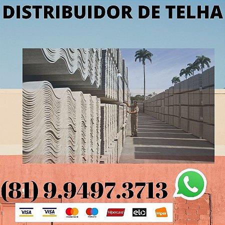 Telha ondulada Fibrocimento Eternit 2.44 x 1.10 (5mm) Paulista