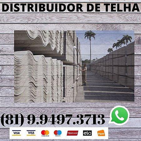 Telha ondulada Fibrocimento Eternit 2.44 x 1.10 (5mm) Moreno