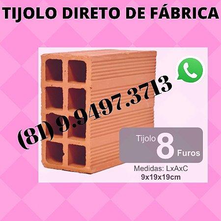 Tijolo 8 furos direto de Fábrica Olaria Moreno
