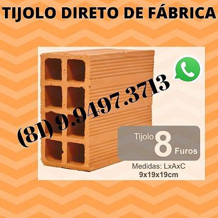 Tijolo 8 furos direto de Fábrica Olaria Lagoa do itaenga