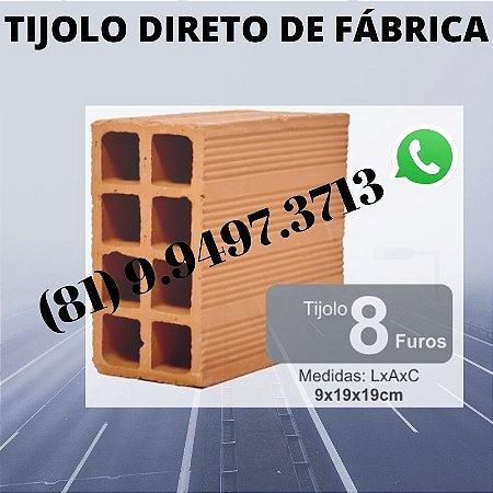 Tijolo 8 furos direto de Fábrica Olaria Paudalho