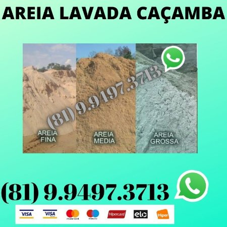 Areia Lavada direto do Areeiro Moreno