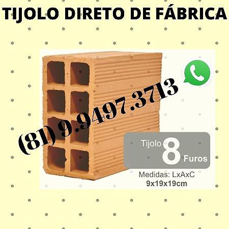 Tijolo 8 furos direto de Fábrica Olaria Araçoiaba