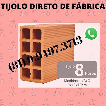 Tijolo 8 furos direto de Fábrica Olaria Goiana